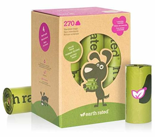 Earth Rated - Pack de bolsas para recoger excrementos de perro,