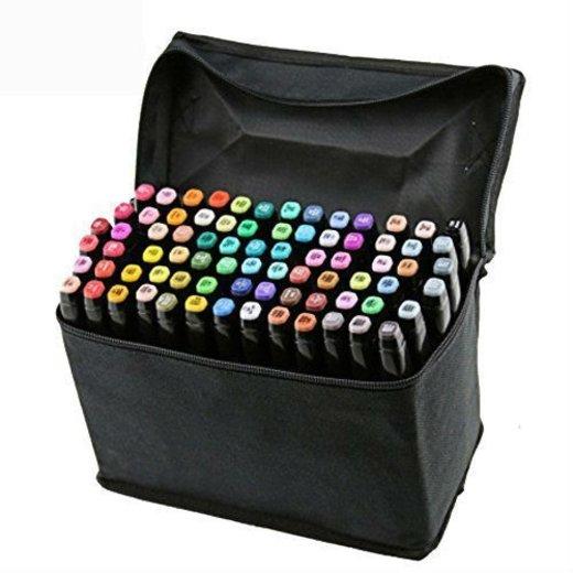 Marker Pen[80PCS],Vococal® Markers Colors Rotuladores Pluma,Doble-punta(1mm/6mm) Rotuladores a Base de Alcohol Lápiz
