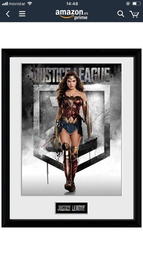GB eye-Póster enmarcado de Wonder Woman Liga de la justicia, varios, 30x 40cm