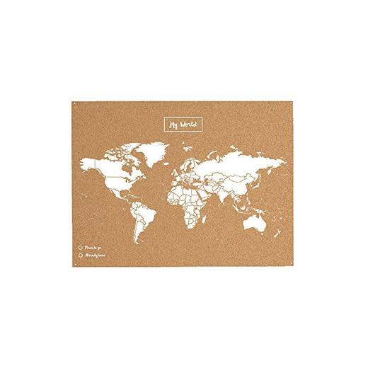 Miss Wood 8436563400032 Map L - Mapa del mundo de corcho, Natural