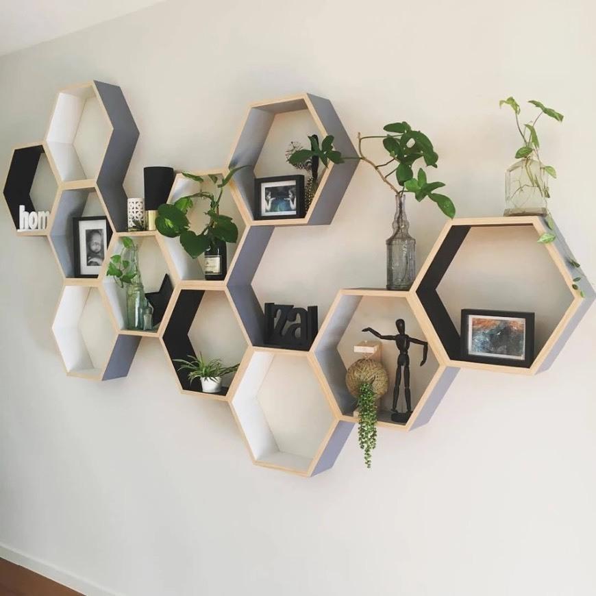 Estante hexagonal