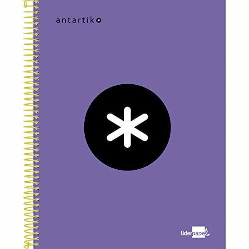 Liderpapel Cuaderno Espiral A5 Micro Antartik Tapa Forrada 120H 100 Gr Cuadro