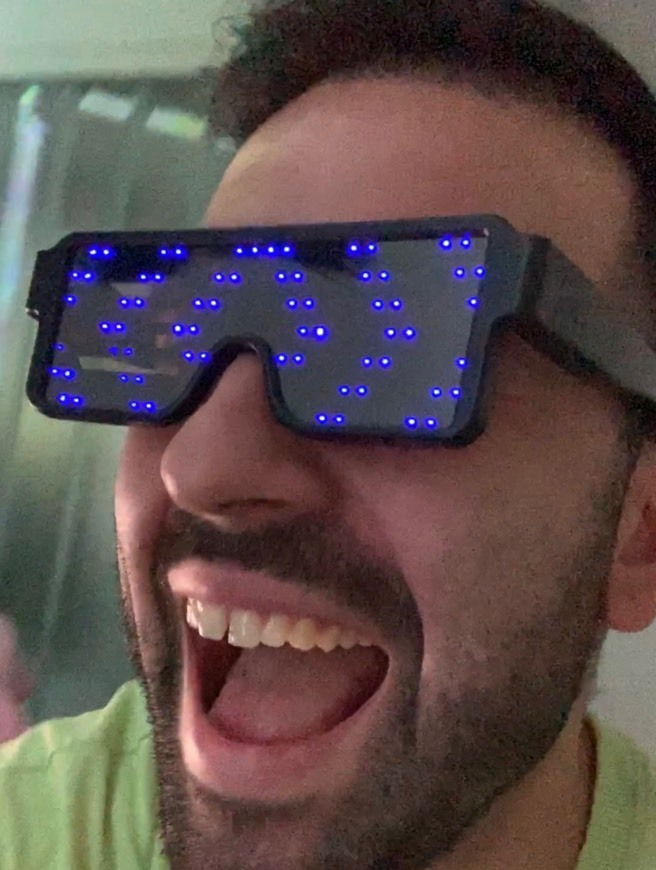 KOBWA Gafas de Luminosas LED Neon Iluminar Gafas con 8 Modos para