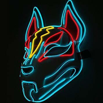 ShiyiUP Led Halloween Máscara Luminosa de Mascarada Gente y Animales Control de