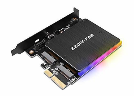 Tarjeta Adaptadora Akasa M.2 PCI-E SATA RGB