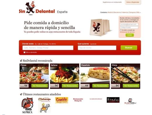 SinDelantal: Comida a domicilio en línea, Pizza, Tacos, Sushi
