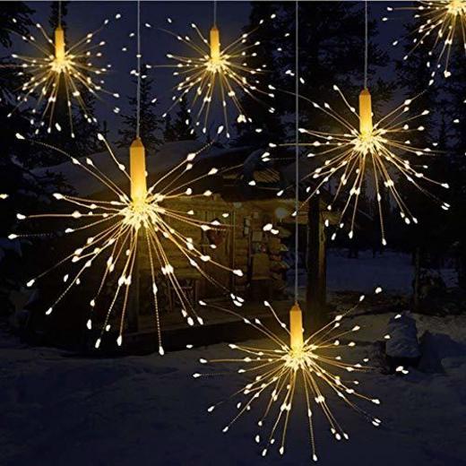 LED Luz Cadena Remote Control Battery Box Copper Wire String Explosion Fireworks