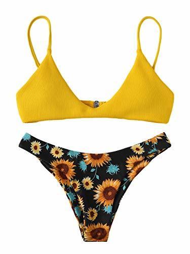 SOLY HUX Mujer Conjunto De Bikini Estampado