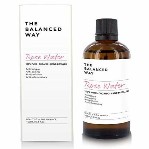 Puro agua de rosas - 100% orgánico, para el rostro, cuerpo y