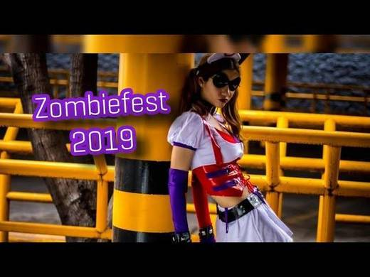 Redmich- me atacaron unos zombies y cosplay de #harleyquiin