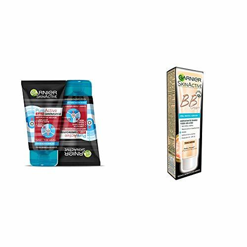 Garnier PureActive Gel Limpiador y Exfoliante Facial Carbón 3 en 1 -