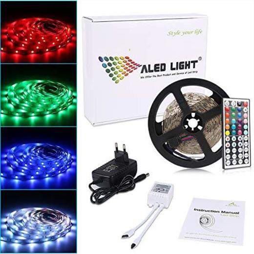 ALED LIGHT Tiras LED 5050 RGB 5m de Longitud 150 LED Multicolor