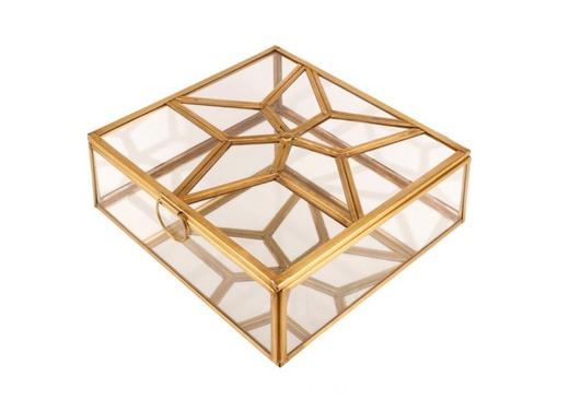 Caja Expositor Estrella DECORACION Dorado