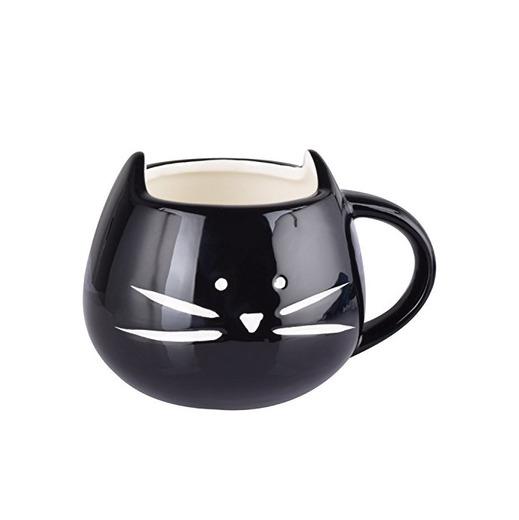 Itian Taza de Porcelana de Animales Gato Hermoso, Lindo Tazón de Cerámica,