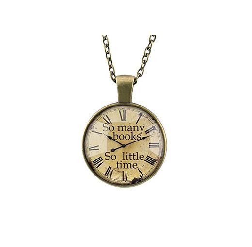 DELEY Vintage Engranajes de Bronce del Reloj de Libros Cúpula de Cristal