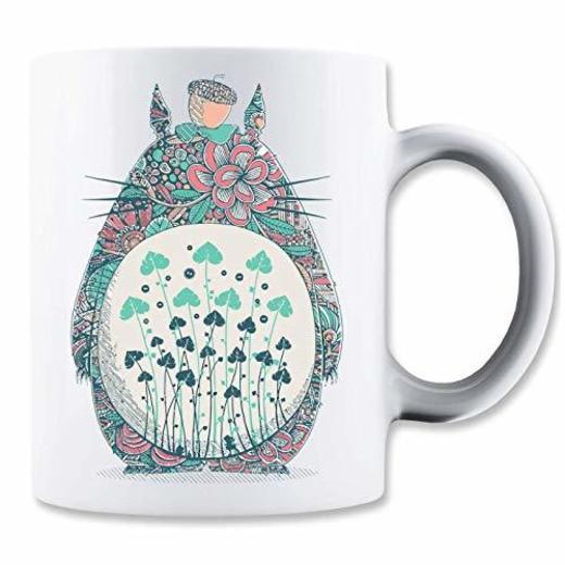 LukeTee Totoro Flowerish Taza para Café y Té