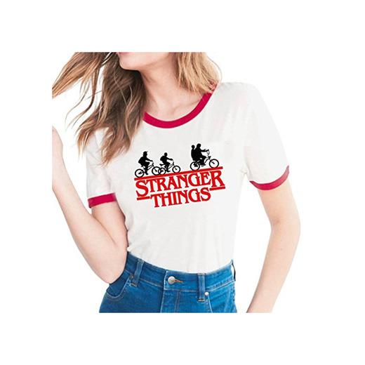 Yuanu Amantes Spring Verano Tamaño Grande Manga Corta Cuello Redondo Camiseta