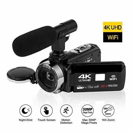 4K Videocámara HD de Alta definición Conectividad WiFi Cámara de Video Pantalla
