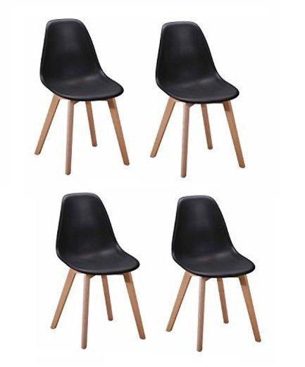 Colección Dawy - Juego de 4 sillas de diseño escandinavo