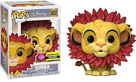 Figura POP Disney The Lion King Simba Flocked Exclusive
