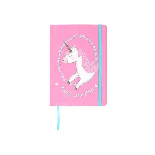 Libreta tamaño A5 rosa con diseño de unicornio para niña