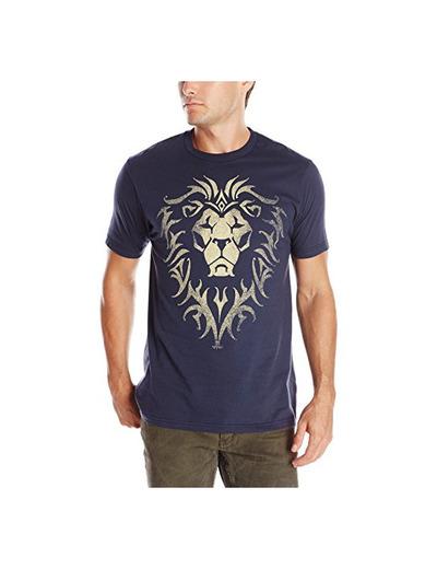 azul logotipo de la película de algodón Alianza Warcraft para hombre de