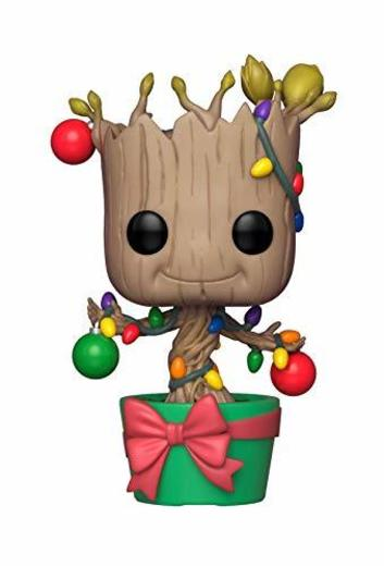 Funko–Pop.Color Marvel Color Holiday Groot con Lights & Ornaments