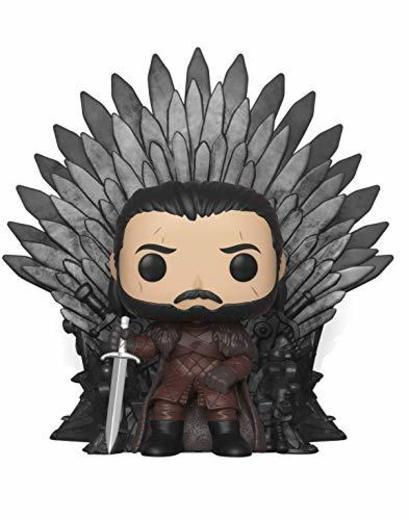Funko- Pop Deluxe: Game of S10: Jon Snow Sitting on Iron Throne