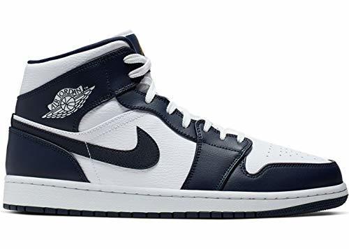 Nike Air Jordan 1 Mid, Zapatos de Baloncesto para Hombre, Blanco