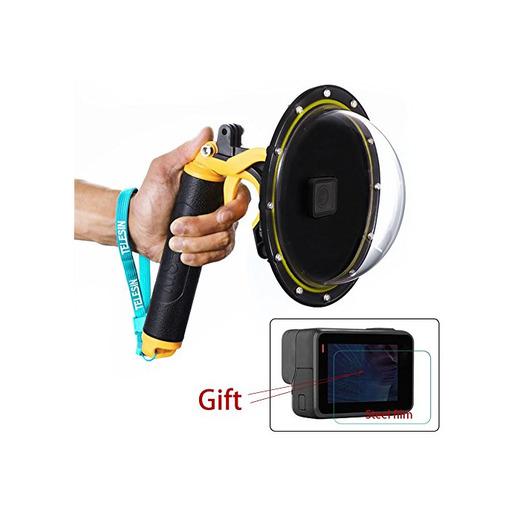 Estuche impermeable con puerto de domo para GoPro Hero 5/6,