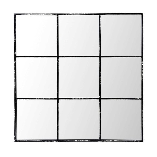 Espejo de metal negro 90x90 | Maisons du Monde