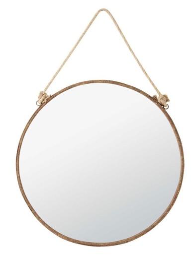Espejo de metal con efecto oxidado Al. 70 cm | Maisons du Monde
