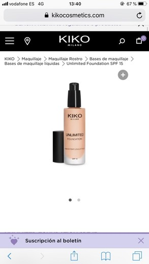 Unlimited Foundation SPF 15