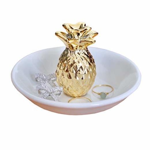 Piña Anillo soporte organizador de joyas pantalla Estuche para anillos pendientes collar