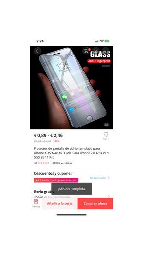 3 protectores iPhone por 1€