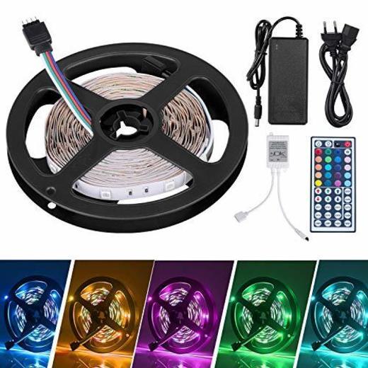 Adoric 5m Tiras LED Tiras de Luces LED Iluminación con 150 Leds