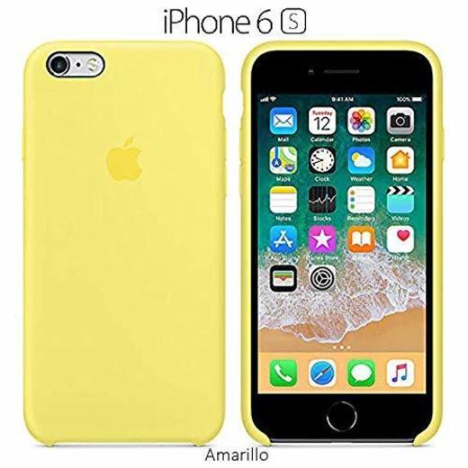 Funda Silicona para iPhone 6 y 6s Silicone Case, Textura Suave, Forro