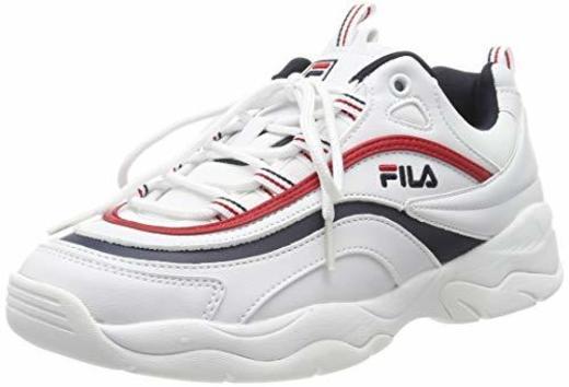 Fila Ray Low Wmn 1010562-150, Zapatillas para Mujer, Blanco