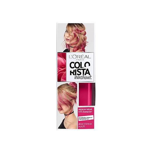 L'Oreal Paris Colorista Coloración  Temporal Tono Washout Hot Pink Hair