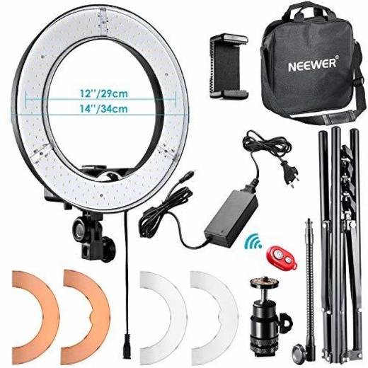 Neewer 36cm Exterior LED Anillo de Luz 36W 5500K con Soporte de