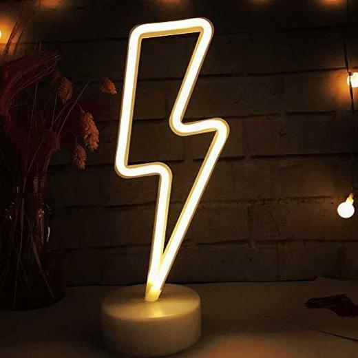 LH Rayo LED en forma de señales de neón luces con pilas