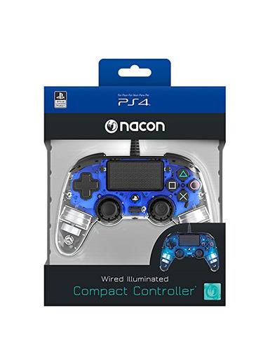 Nacon PS4OFCPADCLBLUE - Mando Compacto para PS4