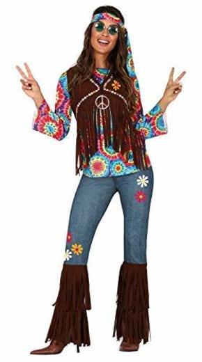 FIESTAS GUIRCA Disfraz de Hippie Hippy Hija de los años 60 Mujer