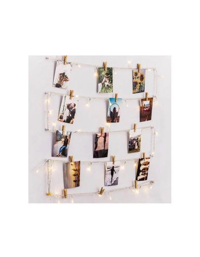 Fotos polaroid con luces decoración