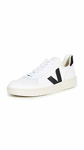 VEJA V-10 Zapatillas Moda Hombres Blanco/Negro
