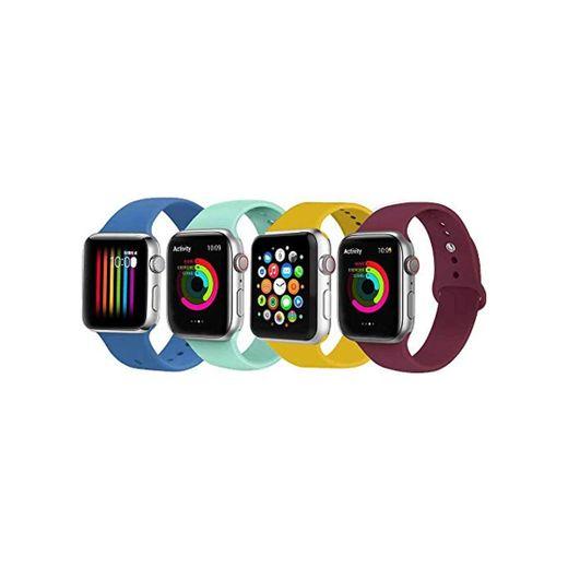 VIKATech Correa de Repuesto Compatible con Apple Watch de 44 mm