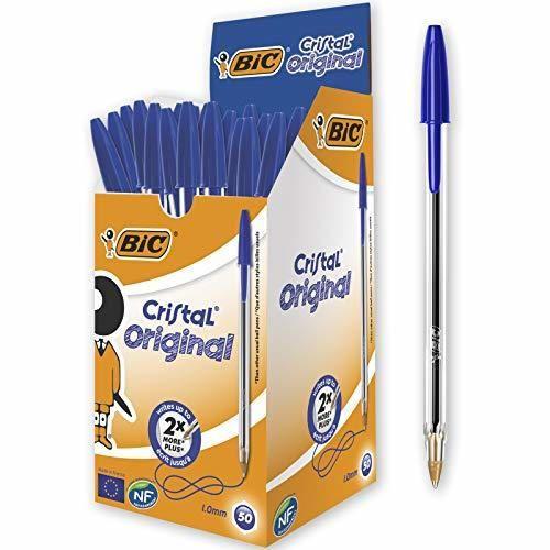 BIC Cristal - Bolígrafo de punta redonda
