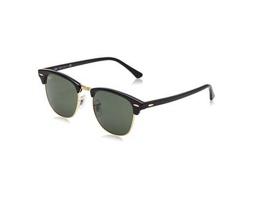 Ray-Ban Clubmaster RB3016 W0365 - Gafas de sol para hombre, Negro