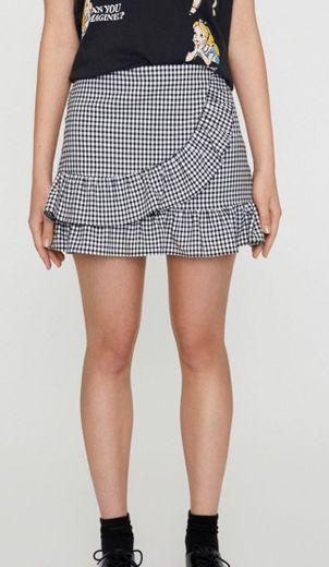 Falda pantalón estilo Vichy