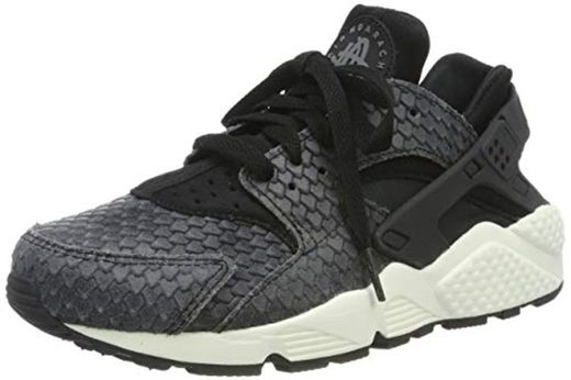 Nike Zapatillas Wmns Air Huarache Run PRM, Deporte Unisex Adulto, Negro